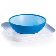 Product thumb mam babys bowl and plate blue